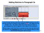 adding notches to paragraph 3a2