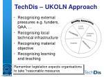techdis ukoln approach