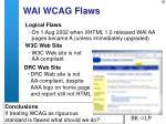 wai wcag flaws