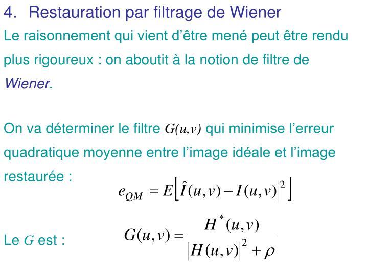 Restauration par filtrage de Wiener