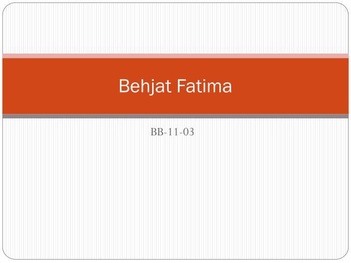 Behjat Fatima