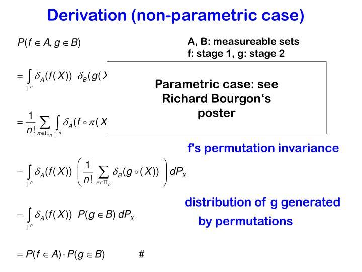 Derivation (non-parametric case)