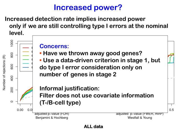 Increased detection rate implies increased power