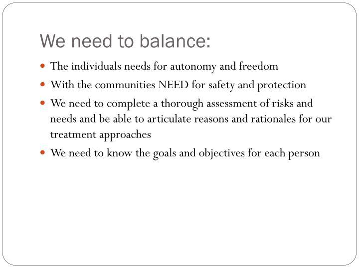 We need to balance: