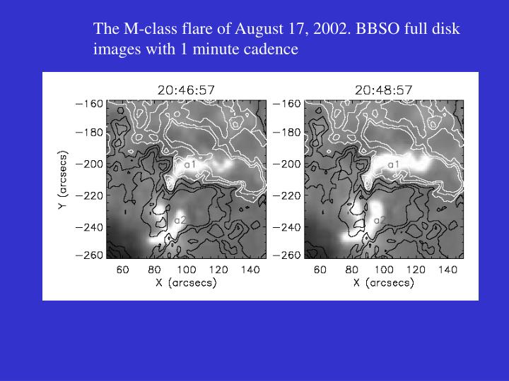 The M-class flare of August 17, 2002. BBSO full disk