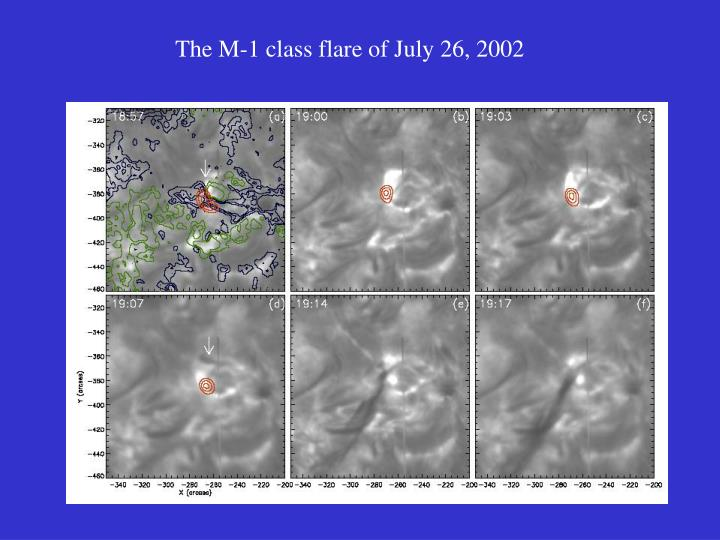 The M-1 class flare of July 26, 2002