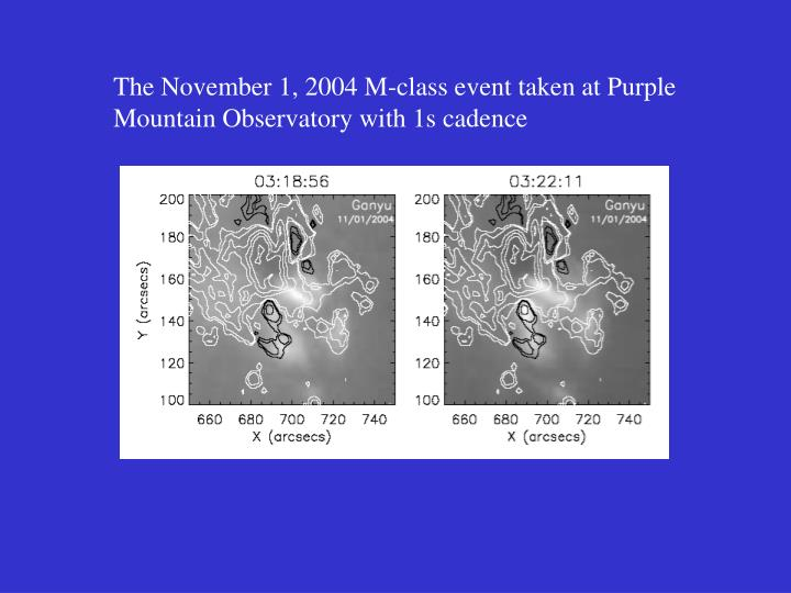 The November 1, 2004 M-class event taken at Purple