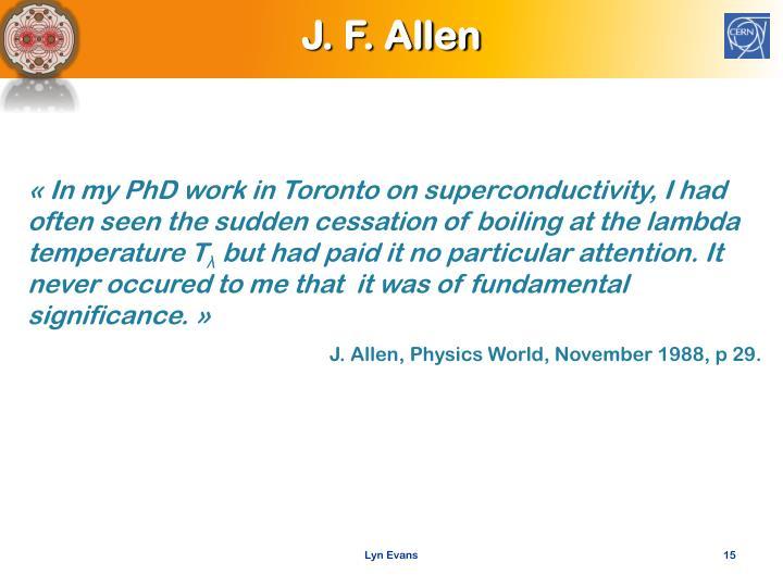 J. F. Allen
