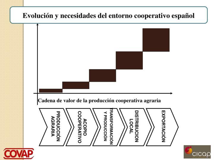 Evolución y necesidades del entorno cooperativo español