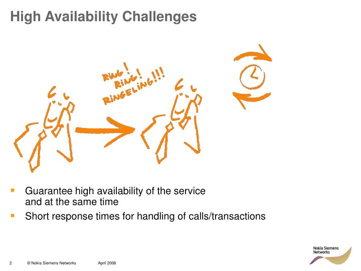 High availability challenges