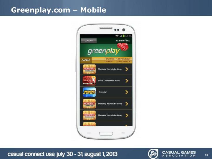 Greenplay.com – Mobile