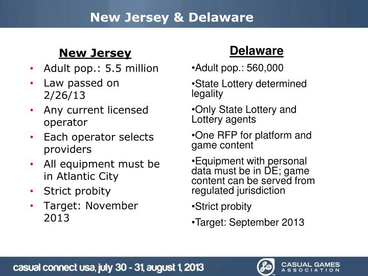 New Jersey & Delaware