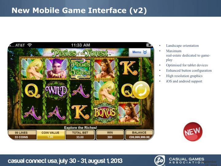 New Mobile Game Interface (v2)