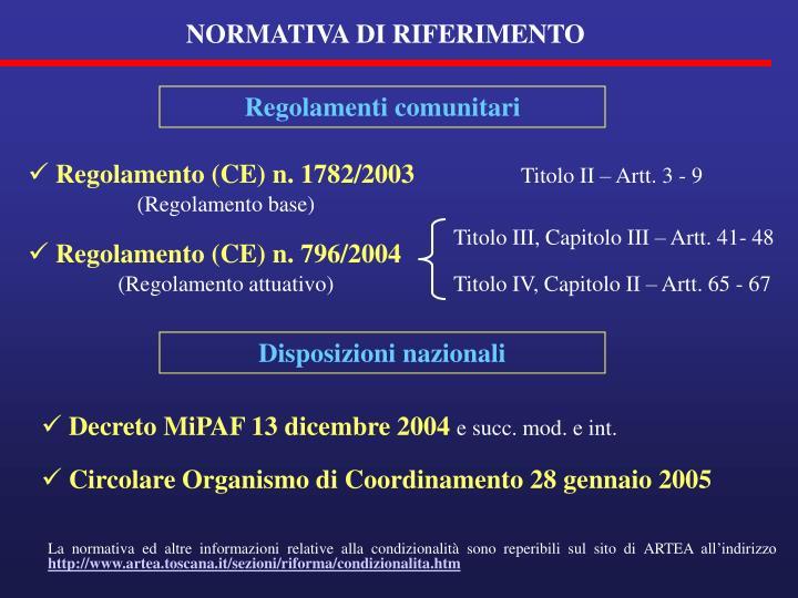 Disposizioni nazionali