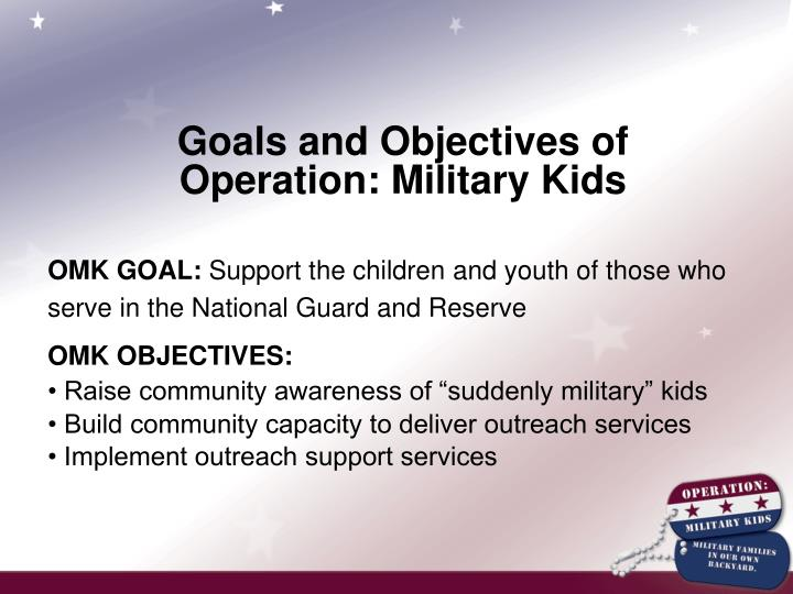 Goals and Objectives of