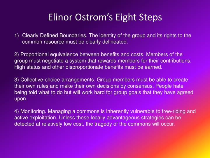 Elinor Ostrom's Eight Steps