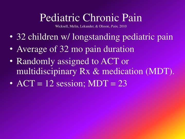 Pediatric Chronic Pain