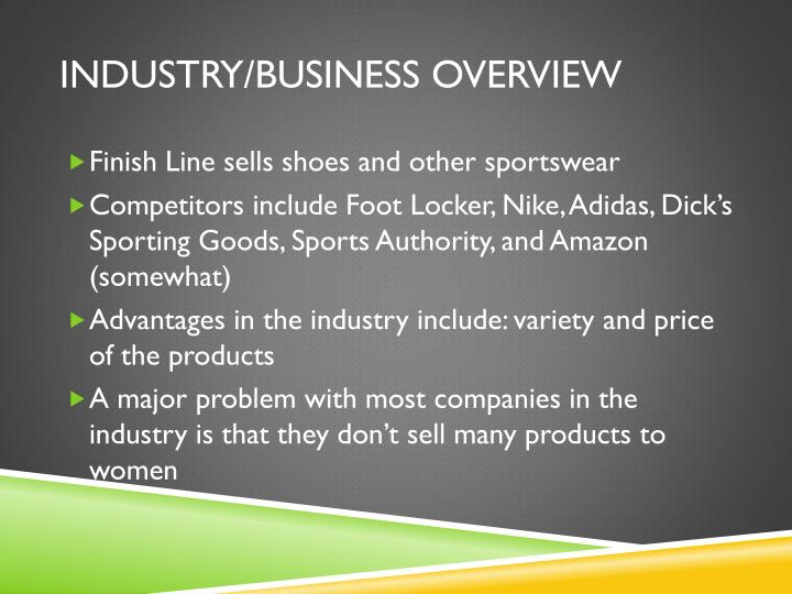 Industry/business overview