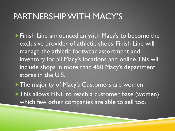 Partnership with macy's