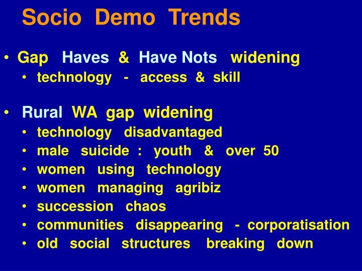Socio  Demo  Trends