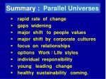 summary parallel universes
