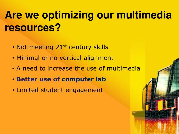 Are we optimizing our multimedia resources?