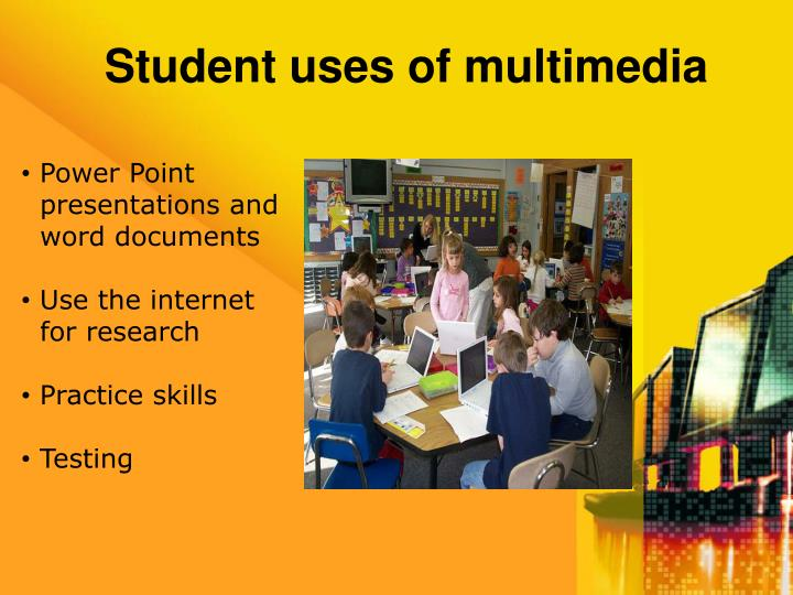 Student uses of multimedia