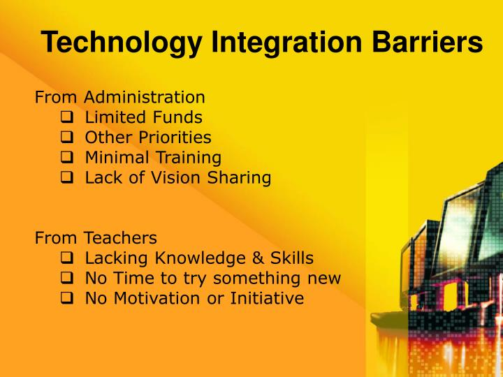 Technology Integration Barriers