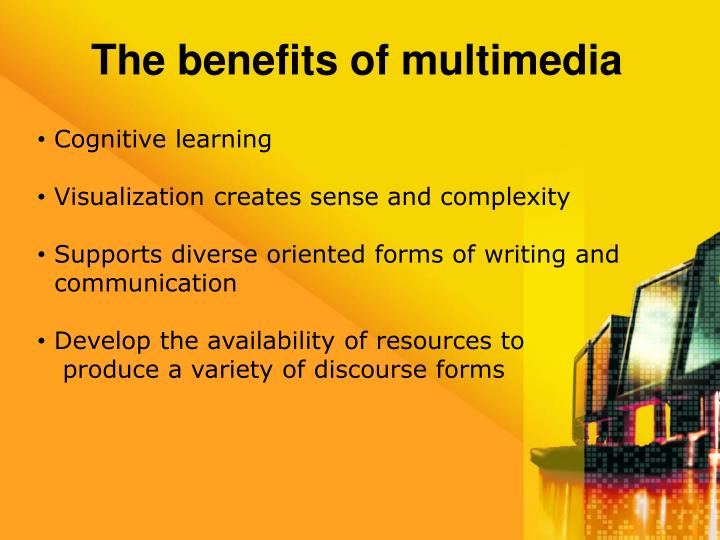 The benefits of multimedia