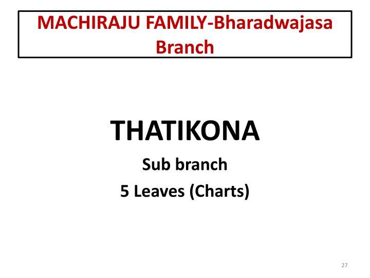 MACHIRAJU FAMILY-