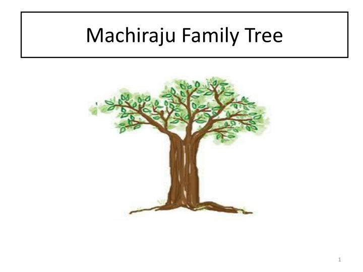 Machiraju family tree
