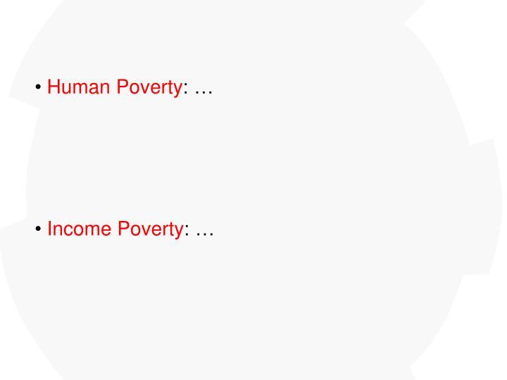 Human Poverty