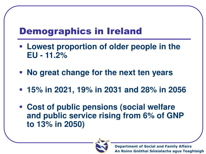 Demographics in ireland