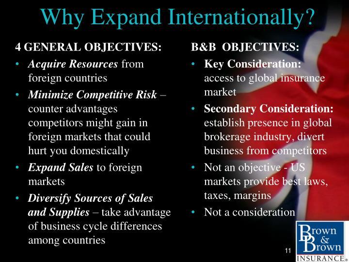 Why Expand Internationally?