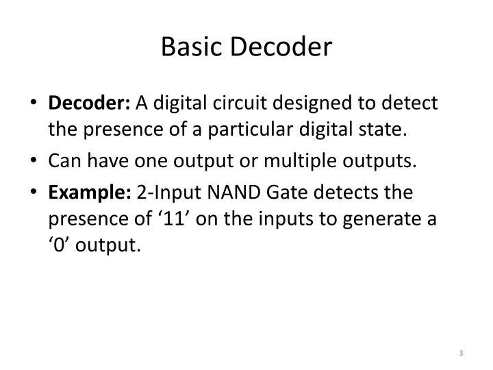 Basic Decoder