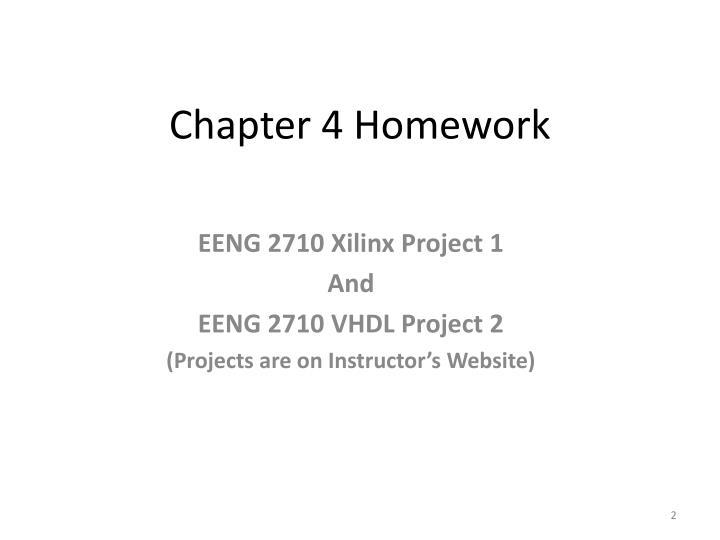 Chapter 4 Homework