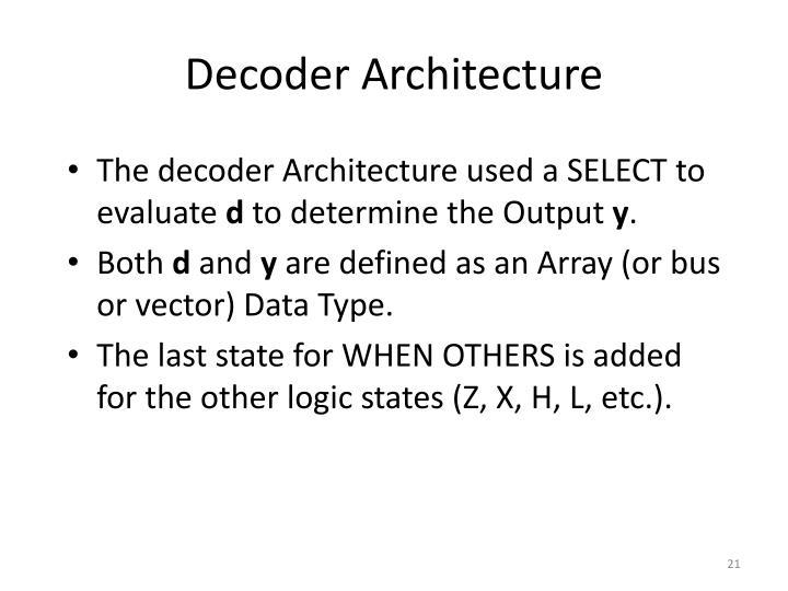 Decoder Architecture