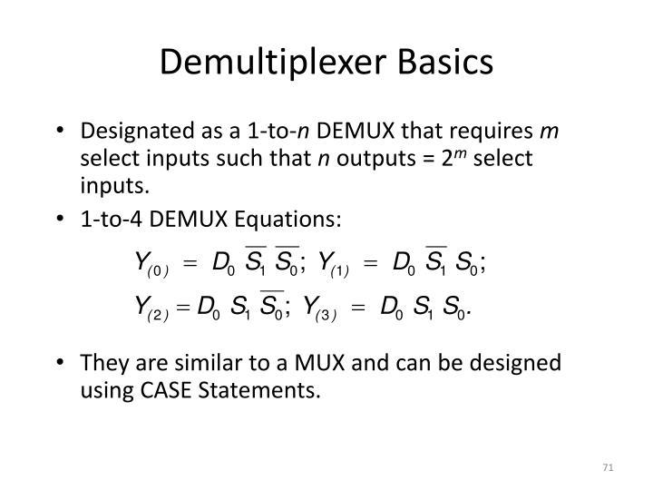 Demultiplexer Basics