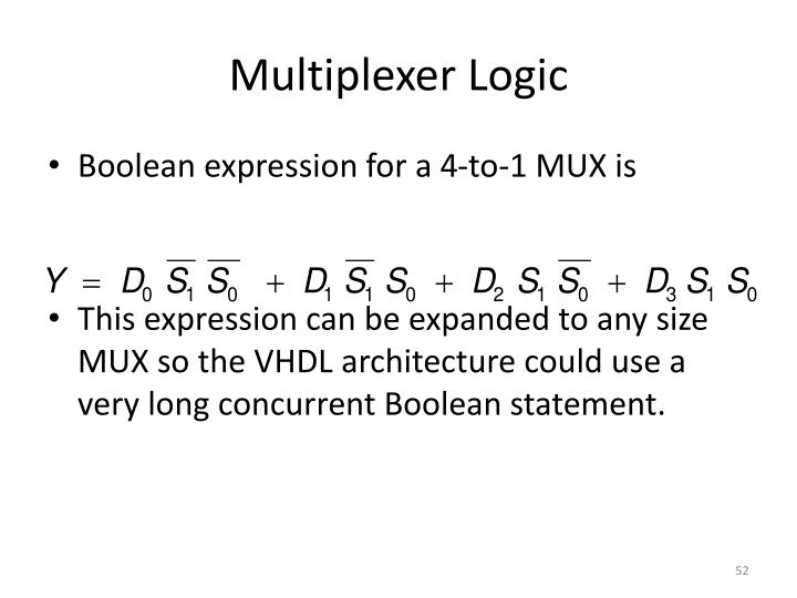 Multiplexer Logic