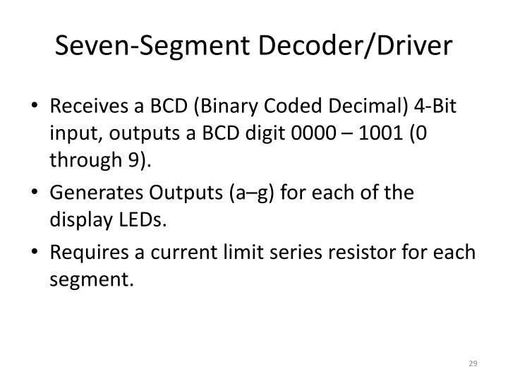 Seven-Segment Decoder/Driver