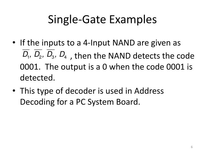 Single-Gate Examples