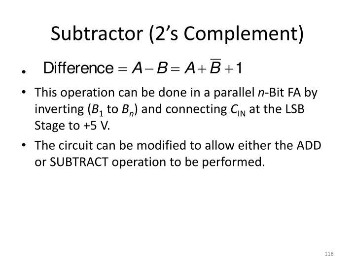 Subtractor (2's Complement)