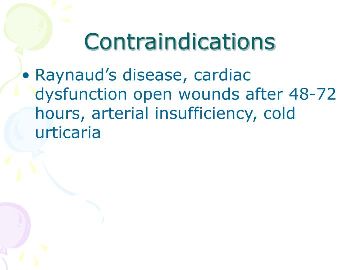 Contraindications