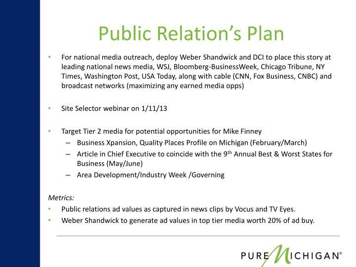 Public Relation's Plan