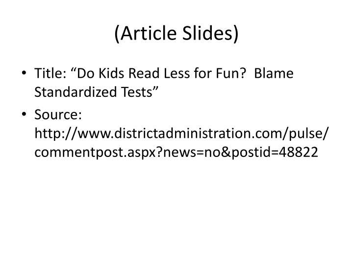 (Article Slides)