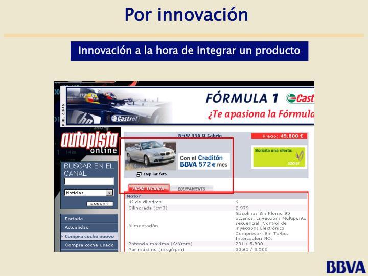 Por innovación