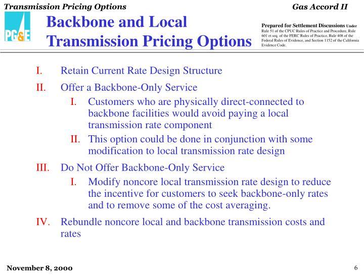 Backbone and Local