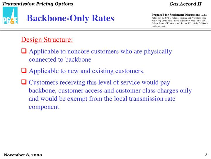 Backbone-Only Rates