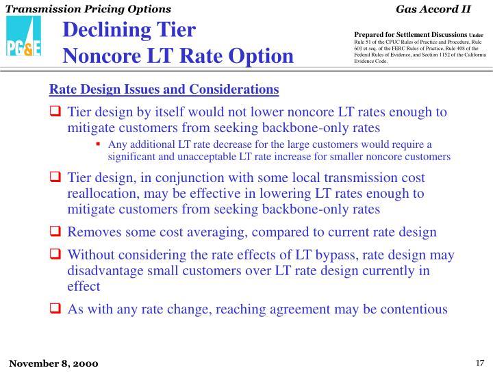 Declining Tier