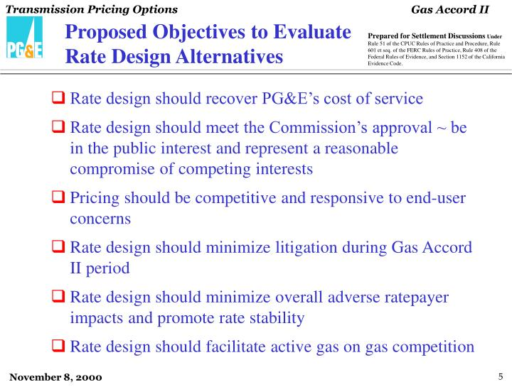 Proposed Objectives to Evaluate